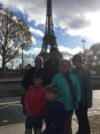 The kids were so excited to see the Eiffel Tower