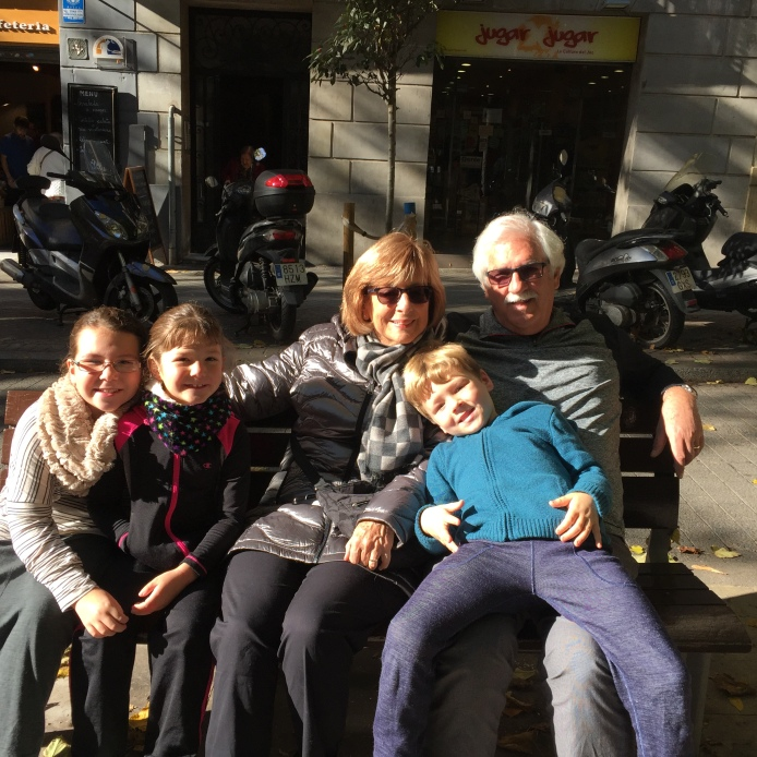 Grammy and Papa visiting us in Barcelona